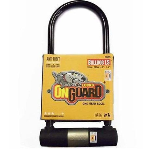 OnGuard Bulldog D U Shackle Lock 292mm x 13mm Hardened Steel MTB Bicycle Bike