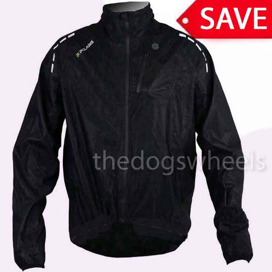 Polaris Aqualite Waterproof Breathable MTB Bicycle Mountain Bike Cycle Cycling Jacket Black