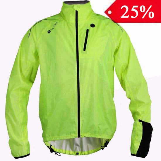 Polaris Aqualite Waterproof High Visibility Yellow Mountain Bike MTB Bicycle Cycle Cycling Jacket