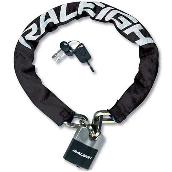 Raleigh Hardened Steel Padlock & Chain 100cm x 9.5mm MTB Bicycle Bike Cycle Lock