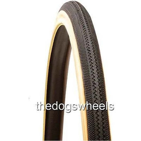 Raleigh 700c Sport Road Racing Bike Bicycle Tyre 700 x 25C Classic Retro Gumwall