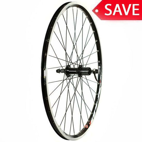 "26"" Mountain Bike MTB Bicycle Rear Wheel Shimano Deore Hub Rim Brake Mach1 MX QR"