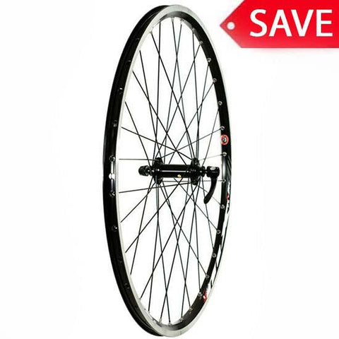 "26"" Mountain Bike MTB Bicycle Front Wheel Shimano Deore Hub Rim Brake Mach1 MX QR"