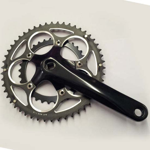 Road Racing Bike Bicycle Compact Double Chainset Crankset 34/50T Square Taper