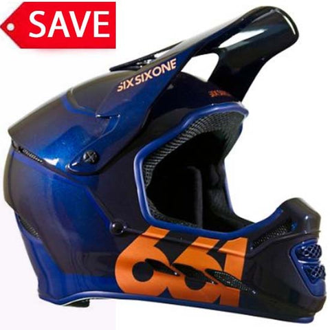 661 Sixsixone Reset Full Face Downhill DH Mountain Bike MTB Helmet Midnight Blue Copper