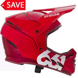 661 Sixsixone Reset Full Face Downhill DH Mountain Bike MTB Helmet Red