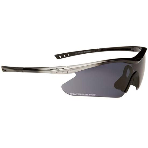 Swiss Eye F-16 Sunglasses / Glasses Silver & Black Frame
