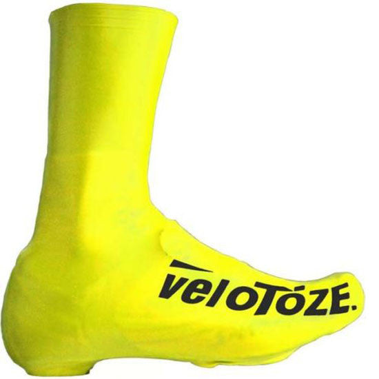 VeloToze Road Racing Bike Bicycle Cycling Tall Overshoes Waterproof Yellow