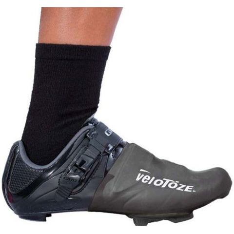 Velotoze Toe Cover Covers Overshoes Road Racing Bike Bicycle Cycling Cycle Black