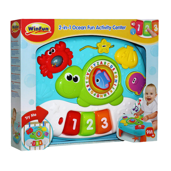 cb4c5ef7b 2 In 1 Ocean Fun Activity Center With Sound And Light (+9 Months)