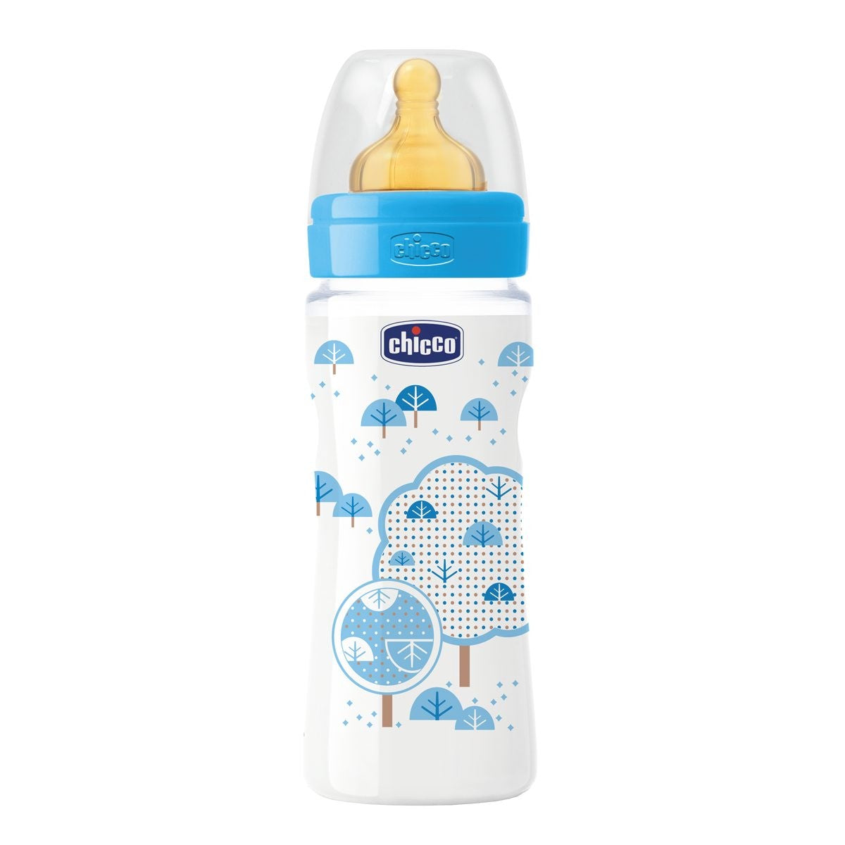 330 ml CHICCO girl well-being baby bottle rubber teat 4m
