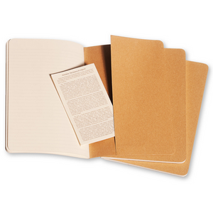 Moleskine Large Cahier Set Of 3 | Back | The Gifted Type