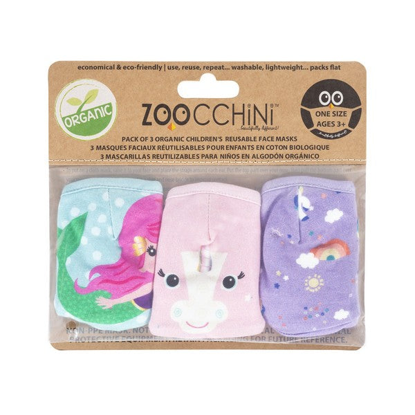 Zoochini Children's Face Masks - Unicorn Set of 3