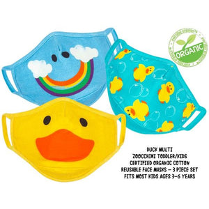 Zoochini Children's Face Masks - Duck Set of 3