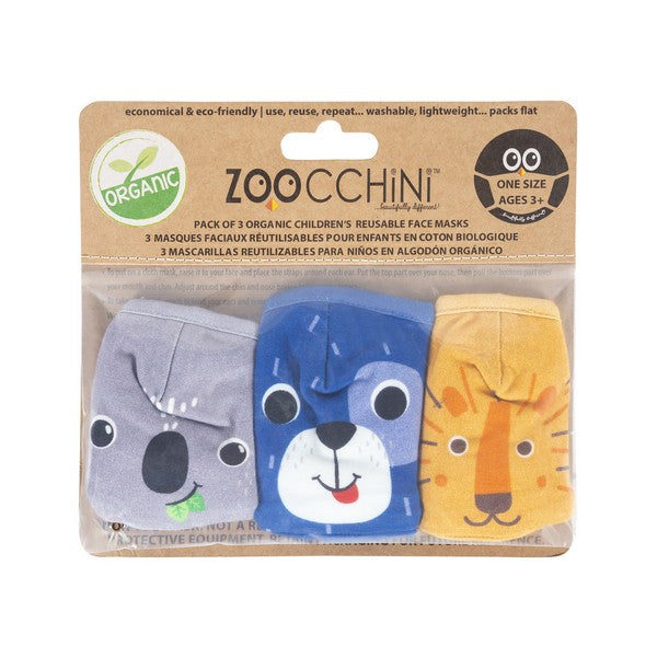 Zoochini Children's Face Masks - Dog Set of 3