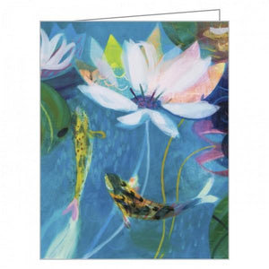 Boxed Notecards QuickNotes Waterlily Garden Set Of 20 | The Gifted Type