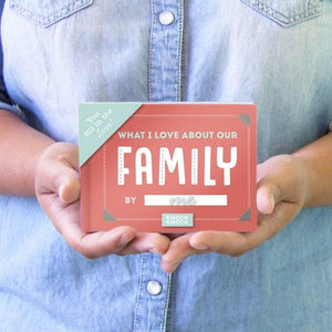 Knock Knock Fill In The Love Journal What I Love About Our Family | The Gifted Type
