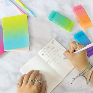 Oh My Ombre! Mechanical Pencils And Erasers | The Gifted Type