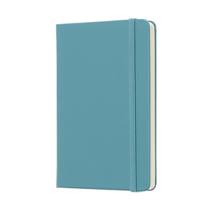 Moleskine Classic Pocket Hardcover Notebook | Reef Blue | The Gifted Type