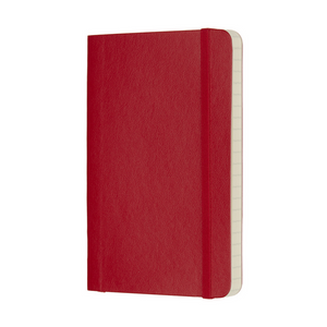 Moleskine Classic Pocket Softcover Notebook | Scarlet Red | The Gifted Type