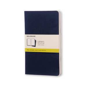 Moleskine Large Cahier Set Of 3 | Indigo Blue | The Gifted Type