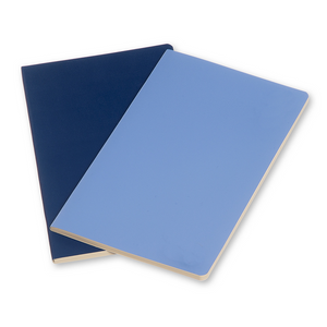 Moleskine Large Volant Notebook Set Of 2 | Blue | The Gifted Type