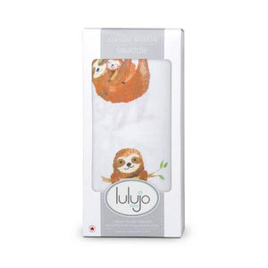 Sloths Muslin Swaddle | The GIfted Type