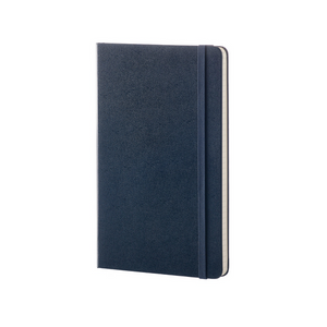 Moleskine Classic Large Hardcover Notebook | Sapphire Blue | The Gifted Type