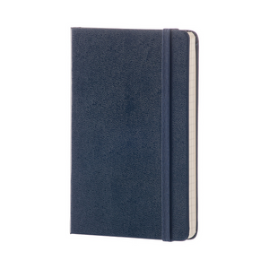 Moleskine Classic Pocket Hardcover Notebook | Sapphire Blue | The Gifted Type