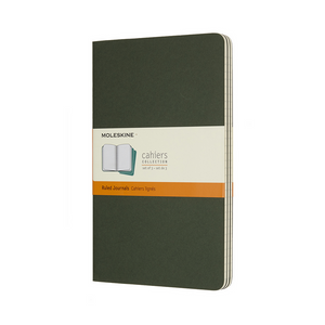 Moleskine Large Cahier Set Of 3 | Myrtle Green | The Gifted Type