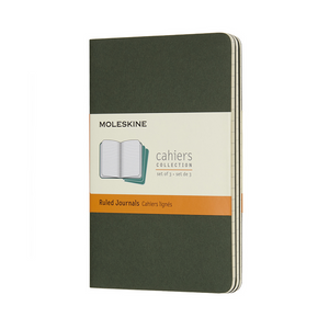 Moleskine Pocket Cahier Set Of 3 | Myrtle Green | The Gifted Type