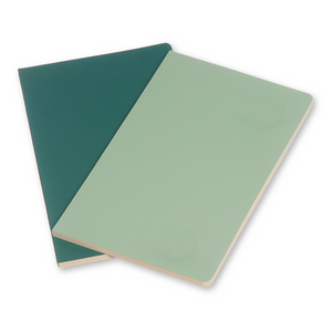 Moleskine Large Volant Notebook Set Of 2 | Green | The Gifted Type