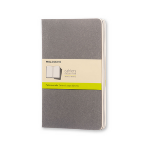 Moleskine Large Cahier Set Of 3 | Pebble Grey | The Gifted Type