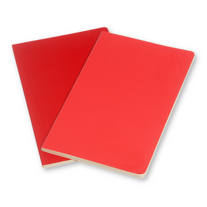 Moleskine Large Volant Notebook Set Of 2 | Red | The Gifted Type