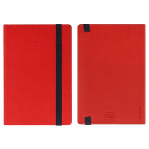 Legami Elastic Bound Notebook | Red | The Gifted Type