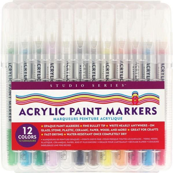 Acrylic Paint Markers - Set of 12