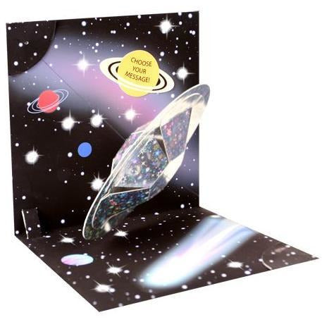 Outer Space Light Up Pop-Up Card