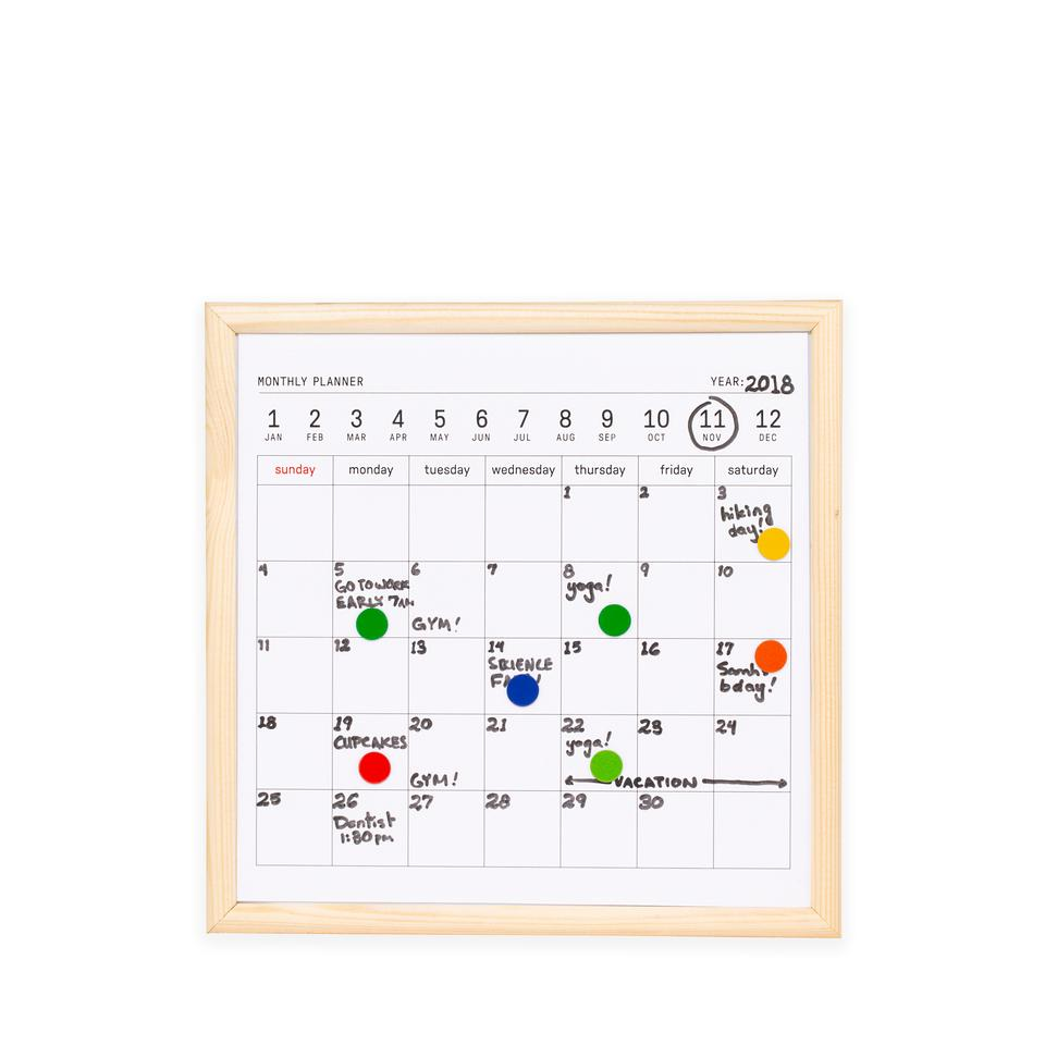White Board Calendar Mini