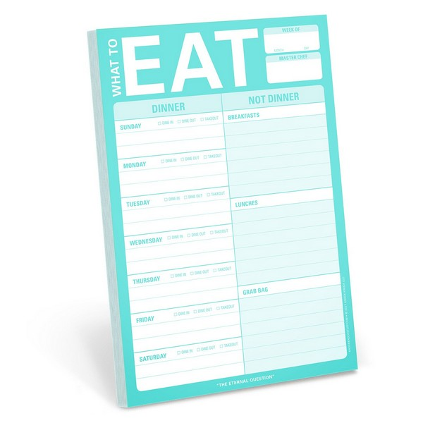 What To Eat (Teal) - Magnetic Notepad