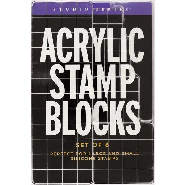 Acrylic Stamp Blocks - Set of 6