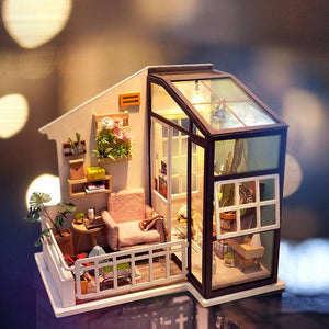 DIY Miniature Dollhouse Kit - Balcony Daydreaming