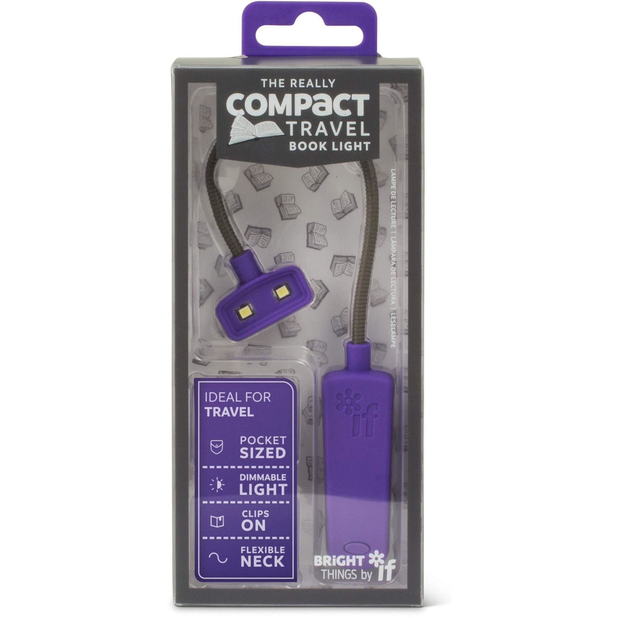 Really Compact Travel Book Light - Purple