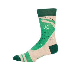 Blue Q Men's Crew Sock Golf | The Gifted Type