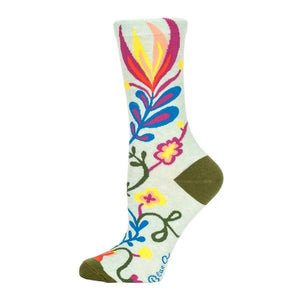 Blue Q Women's Crew Sock Stop Talking | The Gifted Type
