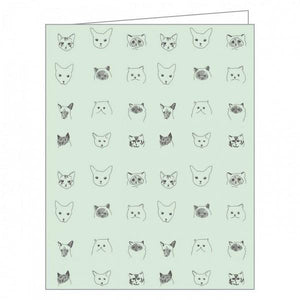 Boxed Notecards GreenNotes Cat Collective Set Of 16 | The Gifted Type