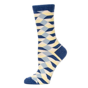 Blue Q Women's Crew Sock Busy Making A Fucking Difference | The Gifted Type