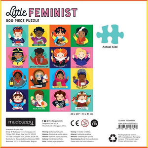 Mudpuppy Puzzle Little Feminist | 500 Pieces | The Gifted Type