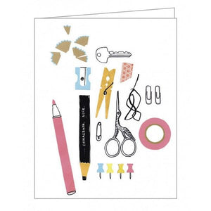 Boxed Notecards GreenNotes Cut + Paste Set Of 16 | The Gifted Type