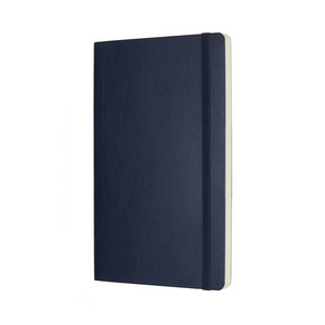 Moleskine Classic Large Softcover Notebook | Sapphire Blue | The Gifted Type
