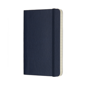 Moleskine Classic Pocket Softcover Notebook | Sapphire Blue | The Gifted Type